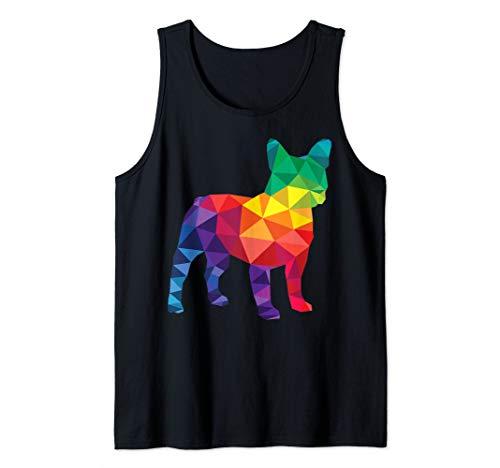French Bulldog Gay Pride LGBT Rainbow Flag Polygon LGBTQ Tank Top
