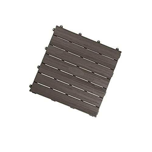 Smoby - Set De 6 Dalles - Accessoire de Maison Smoby - Créer un Plancher - Clipsage Rapide - Effet Texturé Bois - 810907