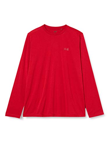 Jack Wolfskin Crosstrail Shirt a Manches Longues Homme Red Lacquer FR: L (Taille Fabricant: 4)