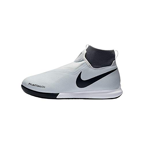 Nike Unisex-Kinder JR Phantom VSN Academy DF IC Fitnessschuhe, Mehrfarbig (Pure Platinum/Black/Lt Crimson/Dark Grey 060), 35.5 EU