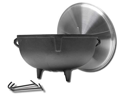 King Kooker 59205-gallon Heavy Duty Gusseisen Jambalaya (Gericht) Topf mit Füße und Aluminium Deckel