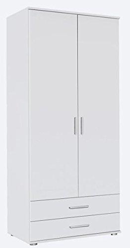 Kleiderschrank Ramona weiß 2 Türen B 85 cm/H 188 cm Kinder Jugend Schlafzimmer Schrank Drehtürenschrank Wäscheschrank
