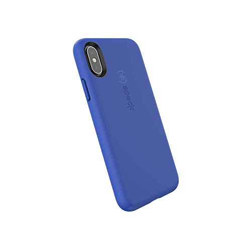 Speck Products CandyShell Fit iPhone Xs/iPhone X Case, Blueberry Blue/Blueberry Blue