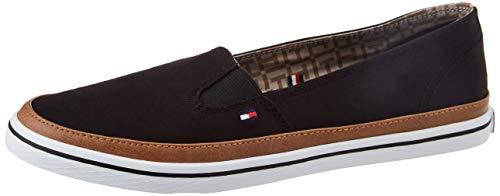 Tommy Hilfiger Damen Iconic Kesha Slip ON Sneaker, Schwarz (Black 990), 40 EU