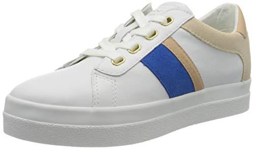 GANT Footwear Damen AVONA Sneaker, Weiß (Br.Wht./Elect. Blue G286), 39 EU