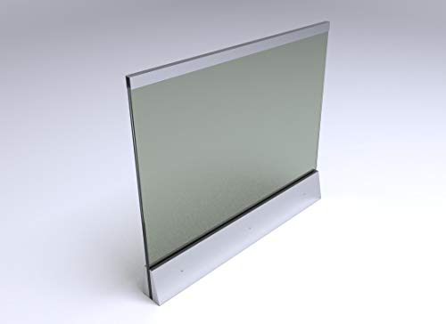 Edelstahl Glas Balkongeländer mit klarem Glas (150 x 100cm)