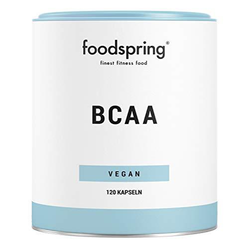 foodspring BCAA Kapseln, 120 Stück, Vegane BCAAs, essenzielle Aminosäuren für deine Muskeln im Verhältnis 2:1:1
