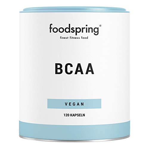 foodspring BCAA, 120 Capsules, Vegan Premium BCAAs, Essential Amino Acids for Your Muscles