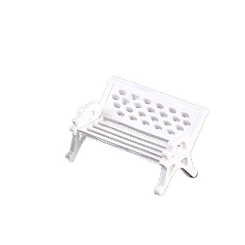 Chaise miniature blanche - Bricolage de Noël - Jardin féerique en plastique - Décor paysager, Plastique, Small