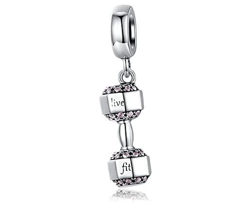 Charm New 2021 MariaFuente - Colgantes originales de plata 925 para la amistad y la madre, compatibles con amuleto de la suerte, corazón, familia, cuentas, letra de Navidad para mujer