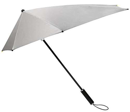 Impliva Storm Maximanual - Paraguas (100 cm), Color Plateado y Negro