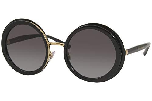 Óculos de Sol Dolce & Gabbana DG6127 501/8G 52 - Preto/Dourado/Cinza Gradiente