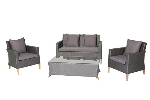 Siena Garden Lounge Set Belmont Titan inkl. Kissen Loungegruppe Sitzgruppe