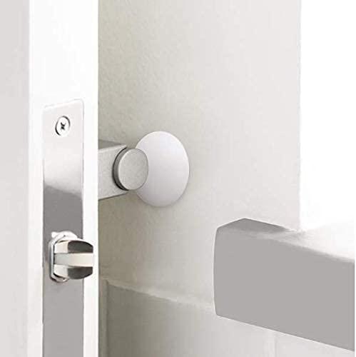"""Door Stopper Wall Protector 10PCS, Door Handle Bumper, Reusable Door Knob Guard Silencer, Rubber Wall Shield with Self Adheisive 3M Sticker, Protecting Wall Doorknobs Refrigerator Door, 1.57"""" White"""