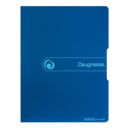 Herlitz 11208360 Sichtbuch PP A4/20 Zeugnisse blau