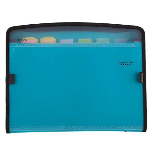 Five Star Expanding File, 7-Pocket Expandable Filing Folder, Zipper Closure, Customizable, Tabbed, Tabs, Teal (72506)
