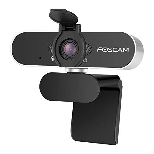 Foscam W21 Webcam 1080P Full HD con Micrófono Incluido, Cámara Web para Video Chat y Grabación, Compatible con Windows, Linux, Mac y Android. Cierre de privacidad