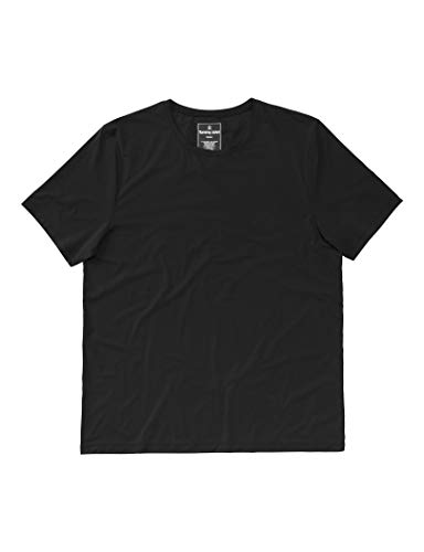 Tommy John Air Mesh Performance Crew Neck T-Shirt - Quick Dry - Modern Fit - Featherlight - Anti-Microbial Black
