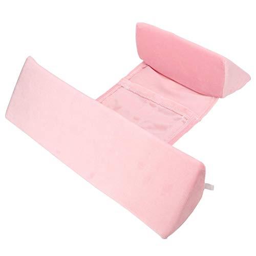 Almohada de cuña para dormir del lado del bebé, Esponja respirable de alta densidad del posicionador del sueño del lado infantil para el bebé(Almohada triangular rosa)