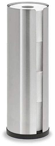 blomus -NEXIO- WC-Rollenhalter aus mattiertem Edelstahl, exklusiver Toilettenpapierhalter mit Platz für bis zu 4 Rollen, modernes Badaccessoire (H / B / T: 45,5 x 13,5 x 13,5 cm, Edelstahl, 68409)