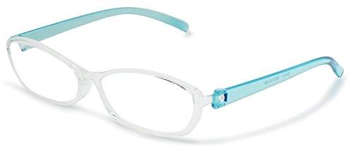 藤田光学 老眼鏡 1.5 度数 お風呂用メガネ 弾性樹脂フレーム クリアブルー EA-01+1.50