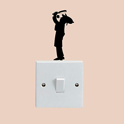 Detektiv Sherlock Holmes Mode Vinyl Wall Switch Decals Aufkleber 5WS1535 @ BlackTheme Graphic
