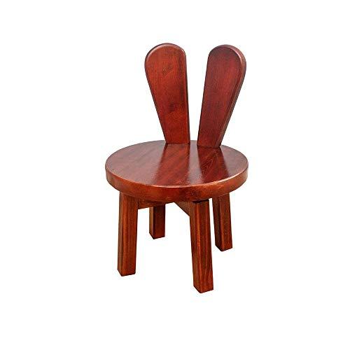 KOIUJ Cosecha de madera de pequeño taburete, sin respaldo Moderno Diseño de muebles de interior for la cocina, comer, Moda Silla de bebé creativa