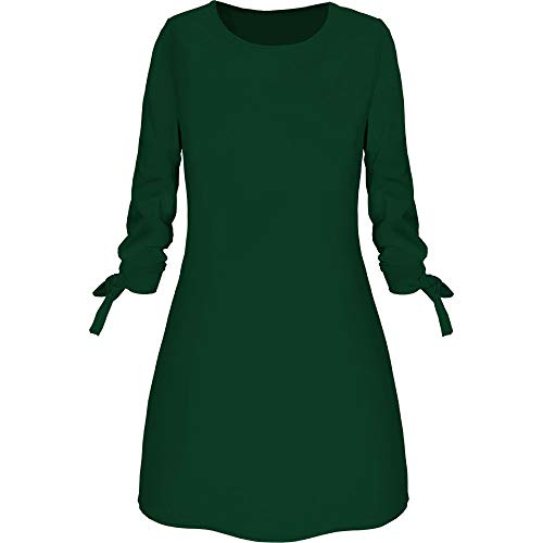 ESAILQ Damen Kleid Retro Ärmellos Kurz Brautjungfern Kleid Spitzenkleid (XL,Grau)
