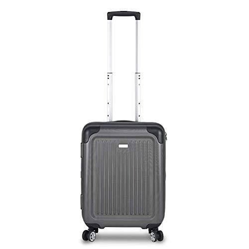 STRATIC Stripe Hartschalen-Koffer Trolley Reisekoffer Handgepäck Rollkoffer mit TSA-Schloss 4 Rollen besonders leicht und leise, S, Graphit