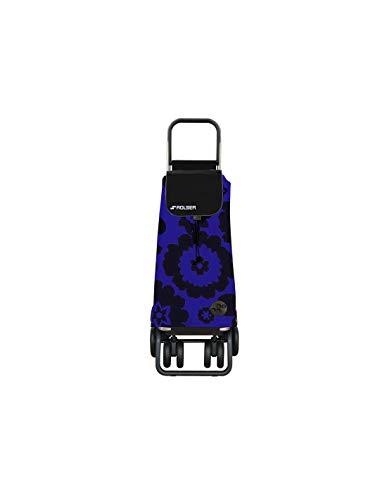 Carro Rolser Pack Flor 4 Ruedas 2 Giratorias Plegable - Azul/Negro