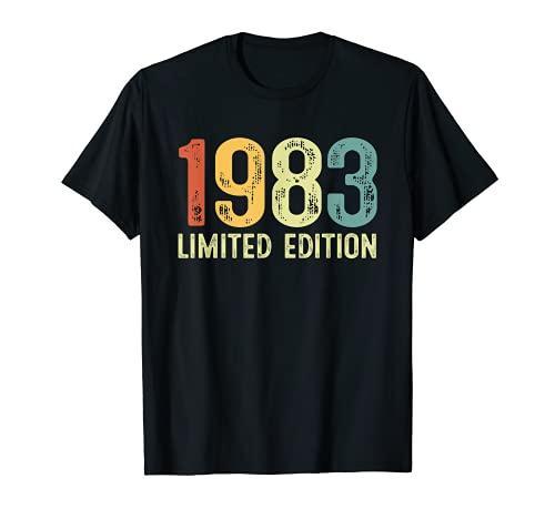 Vintage 1983 38 Anni Compleanno Uomo Donna Regalo Divertente Maglietta