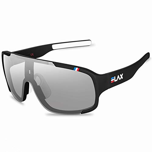 Óculos de Sol Elax Ciclismo Fotocromático Polarizado UV400 (Preto)