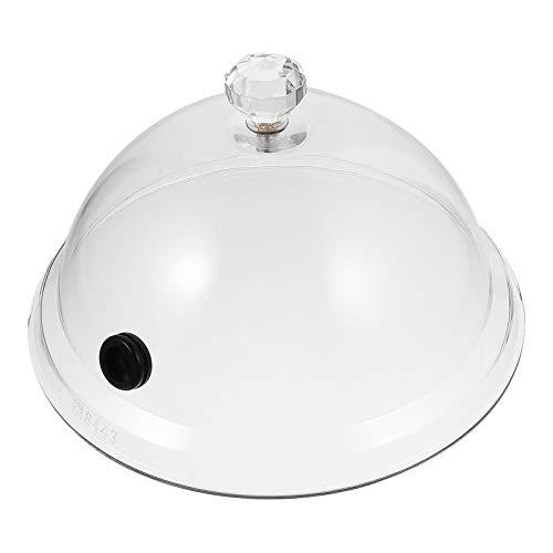 DOITOOL cúpula de vidro para defumar, garrafa de sino, redoma para exibição de alimentos, capa transparente para exibição de bolo, para pão, pizza, frutas, sobremesa, suculentas