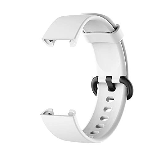 Correa de silicona para XiaoMi Mi Watch Lite/para Redmi Watchstrap Original SmartBand Sport Pulsera Correa de repuesto, blanco,