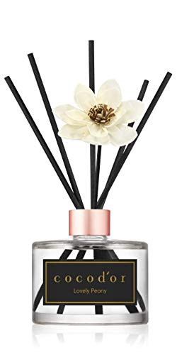 Cocod'or White Flower Reed Diffuser/Lovely Peony / 6.7oz(200ml) / 1 Pack/Reed Diffuser Set, Oil Diffuser & Reed Diffuser Sticks, Home Decor & Office