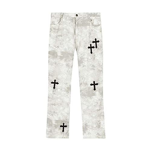 Astemdhj Vaqueros para Hombre Jeans Pantalones De Diseñador Hombres Ropa Mujer Streetwear Graffiti Hombres...