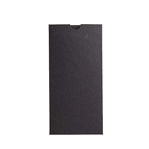 Noir mat Portefeuille Invite 215 Mmx105 mm à partir de faire-part invitations Ltd Noir