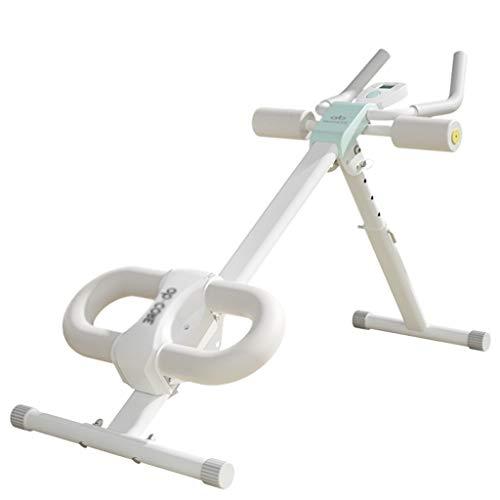 Fitness Höhe einstellbar Bauch Trainer Bauch Ganzkörper Übung Fitness Taille Kern Fitness Beine Oberschenkel Gesäß Körper Shaper (Color : Blue, Size : 52 * 114 * 82cm)