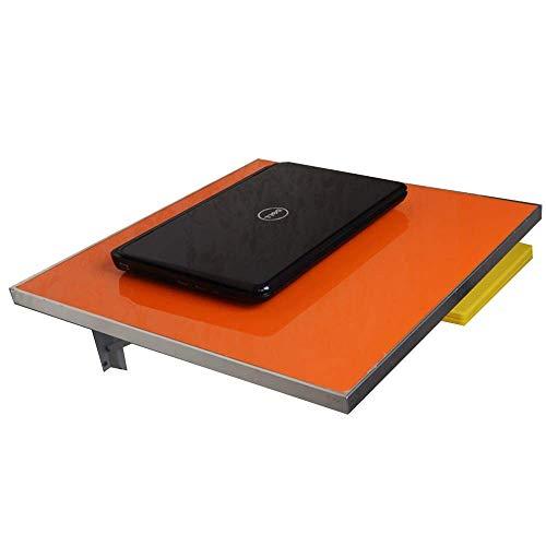 Mesa Plegable de Pared Cocina Plegable Mesa de Comedor Mesa de Aluminio Mesa Plegable Lateral Tipo de Colgante de Pared (Color: Naranja, Tamaño: L50CM * W50CM)