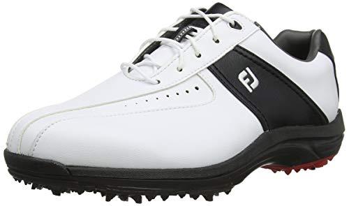 Footjoy GreenJoys, Scarpe da Golf Uomo, Bianco (Blanco/Negro 45300), 45 EU