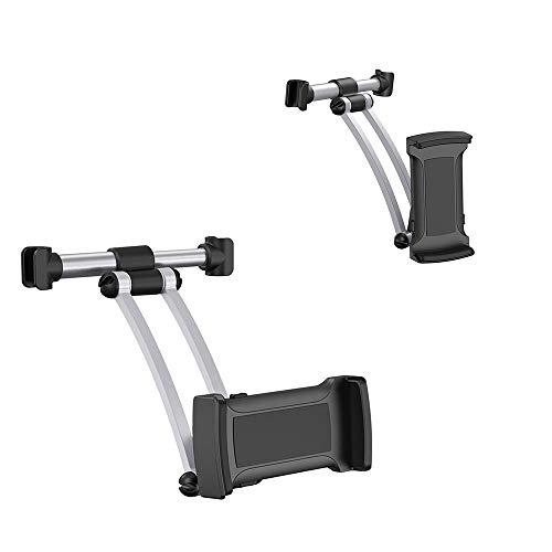 Zuverlässig Tragbarer Tablet-Autohalter mit verstellbarer 360-Grad-Drehung Auto-Rücksitz-Drehklemmenhalterung 4,3 bis 8,8 Zoll, für Apple iPad / iPad Air / iPad Pro, Motorola Xoom, Nintendo Switch