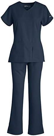 Grey s Anatomy 41423 4275 Women s Active Top Drawstring Pant Medical Scrub Set Steel M M product image