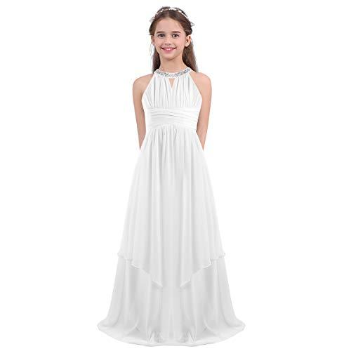 iEFiEL Vestito da Cerimonia Bambina Elegante Vestito da Principessa Ragazza Abito da Sera Sposa Compleanno Wedding Matrimonio D