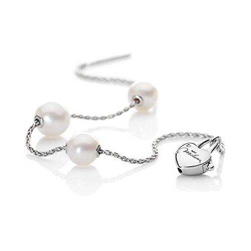 Miluna - Bracciale Argento, Diamanti, Perle, cod. PBR1597AG