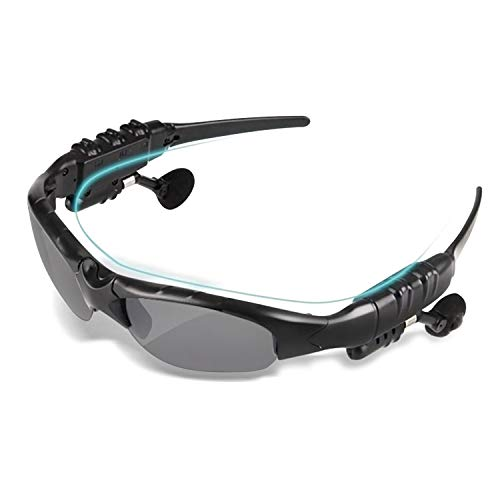 TechKen Sunglasses Headset Headphone Bluetooth Wireless Music Sunglasses Headsets Compatible with iPhone Samsung LG and Smart Phones PC Tablets