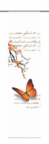 Home Fashion 87616-775 Schiebevorhang Digitaldruck Butterfly, Dekostoff, 245 x 60 cm, orange