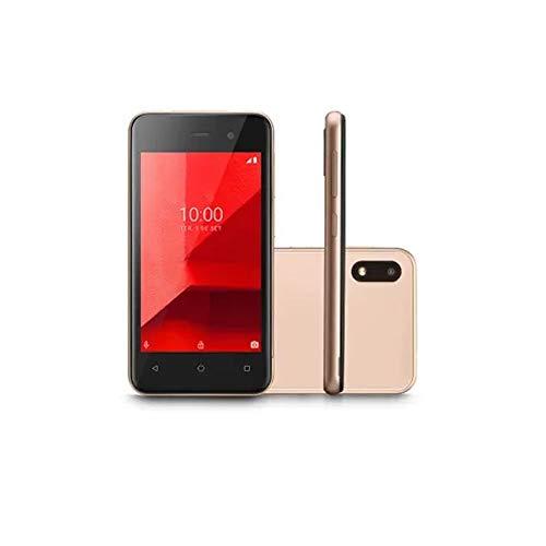 Smartphone Multilaser E Lite Dourado Tela 4.0 16GB 3G Quad Core Câmera traseira 5MP + 5MP frontal - P9100