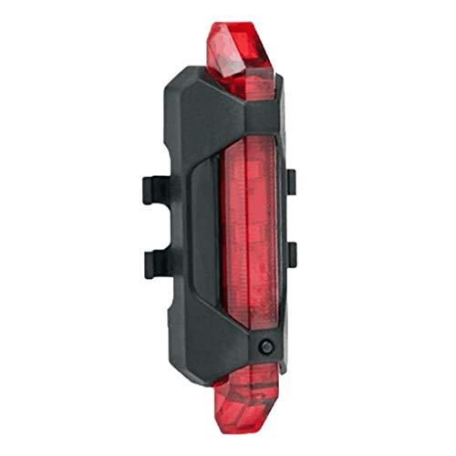Floridivy 5 LED USB Recargable Cola luz de luz Trasera la Bici de la Bicicleta de Seguridad Ciclismo advierte la lámpara Trasera portátil Flash Trasera Rojo