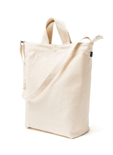 BAGGU Women's Duck Bag, Canvas, White, Off White, One Size