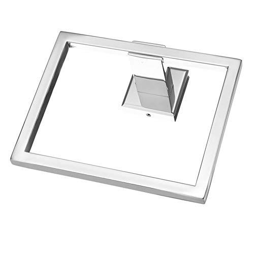 EFGUFHC Soporte de Anillo de Toalla Cuadrada de Acero Inoxidable 304 Toallero montado en la Pared de baño for Colgador de Toallas Almacenamiento (Color : Mirror)